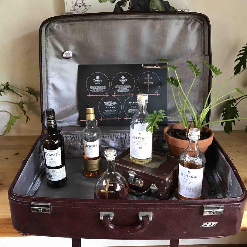 Whisky Tasting Suitcase Setup